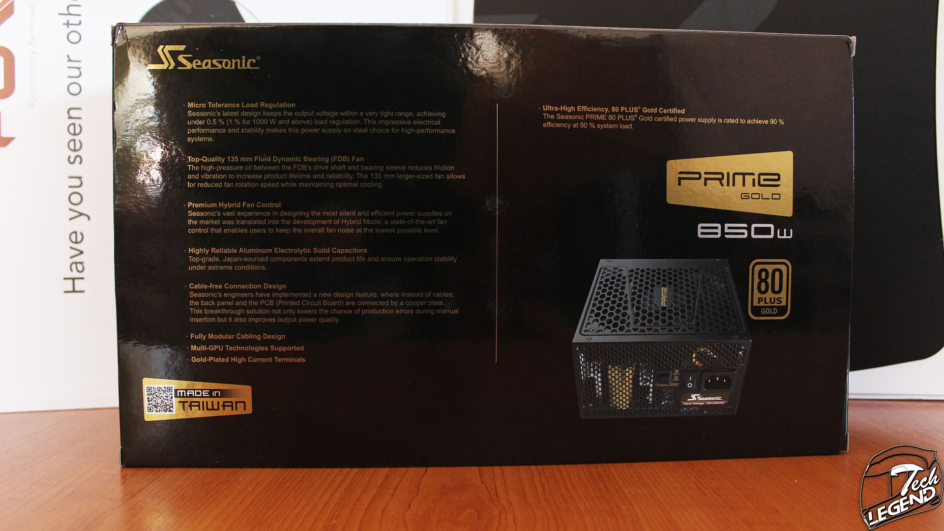 Seasonic Prime 850w Gold Power Supply Review Modular Wiring Solutions Ltd The Is Packaged In A Textile Bag While Cables Are Sealed Plastic Bags These Inside Separate Cardboard Box