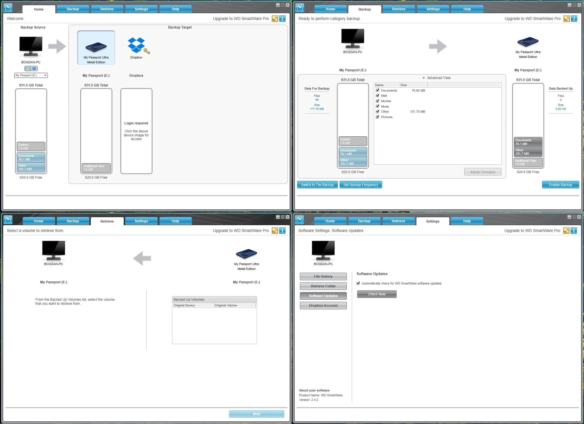 W D  My Passport Ultra Metal Edition 1TB Blue USB 3 0 Review